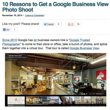 10 Reasons to Get a Google Business View Photo Shoot
