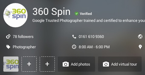360 spin virtual tour - Google My Business